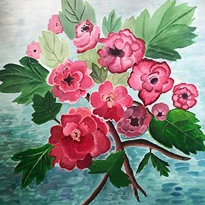 Painting of a bunch of flowers
