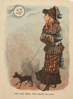 cruel moon Victorian Valentine's Day card