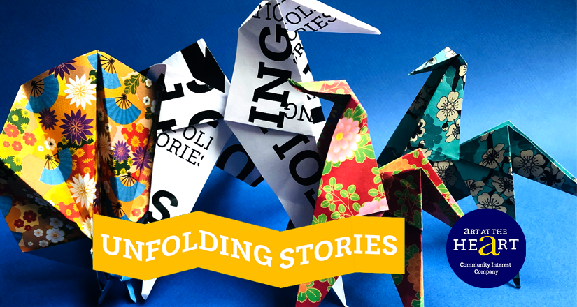 Origami paper sculptures created for Reading Friends Project