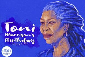 Illustration of Toni Morrison created to celebrate the anniversary of her birthday