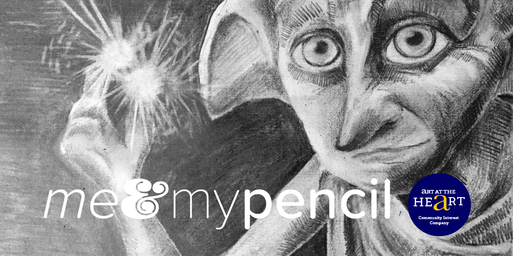 drawing of Dobby for me and my pencil workshop