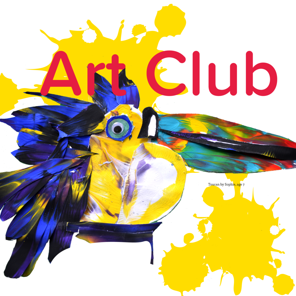 Art Club Gallery Artwork of a colourful toucan