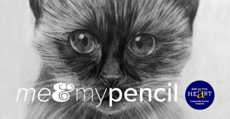 "Image to illustrate the ""How to draw your Siamese Cat"" Me & My Pencil drawing workshop"
