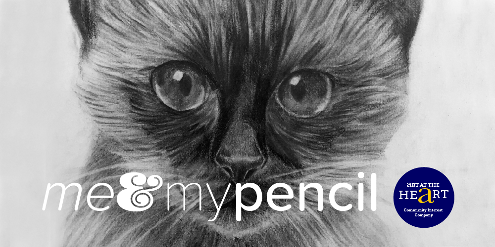 """Image to illustrate the """"How to draw your Siamese Cat"""" Me & My Pencil drawing workshop"""