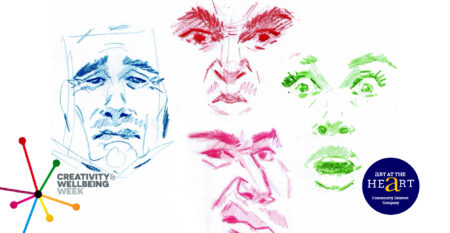 Illustrations showing different facial expressions