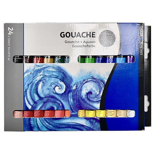 Picture of a set of 24 gouache paints by Daler Rowney