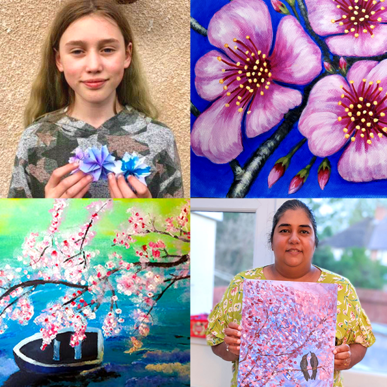 BigAsABus Project Hanami Community Artwork Collage