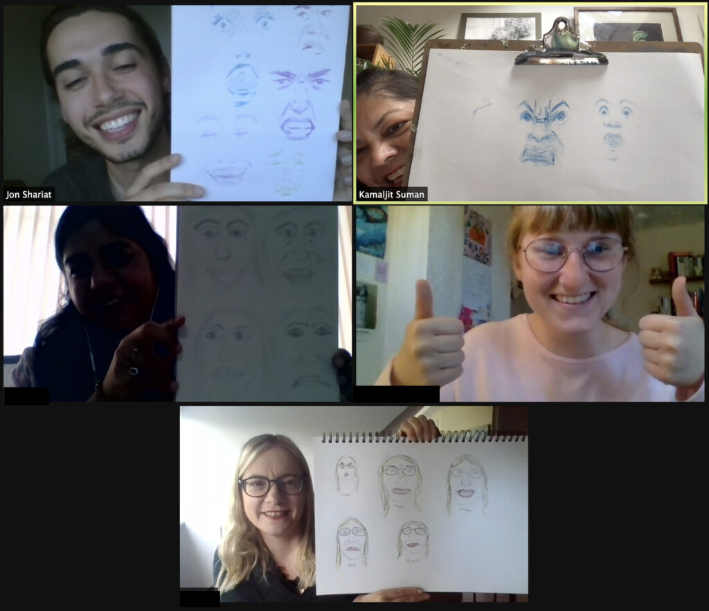 Screenshot of the Capturing Facial Expressions Zoom workshop