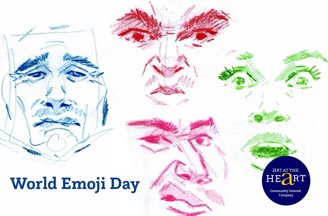 Facial Expressions Workshop Image for World Emoji Day