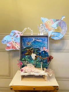 Artwork created by Daphne and her family for the Making Waves project