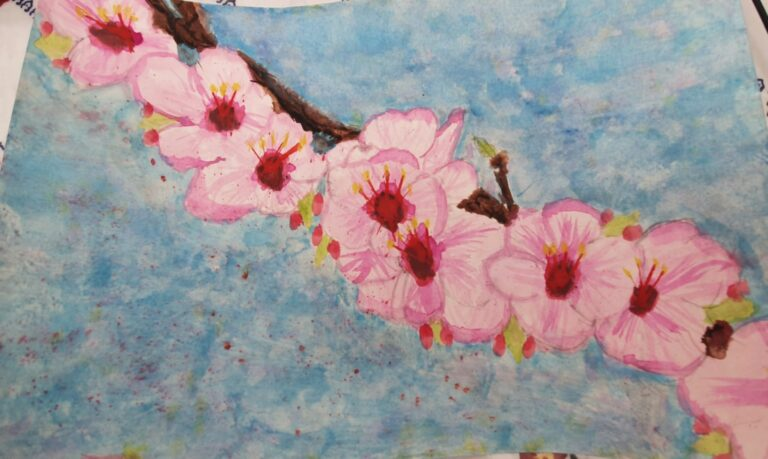 Blossom Painting for the Big as a Bus project