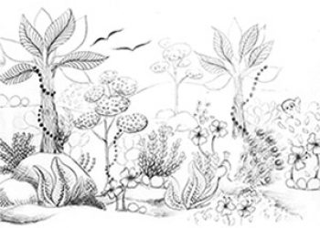 preview of Indian miniatures colouring sheet