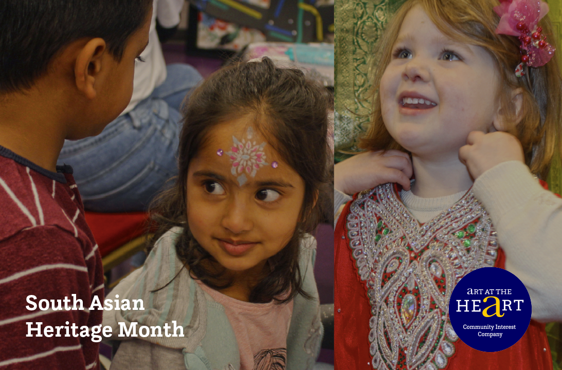 Children from Art at the Heart's Diwali event for South Asian Heritage Month